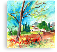 France - Somewhere in The Provence Canvas Print