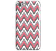 Pink Grey White Chevron Pattern iPhone Case/Skin