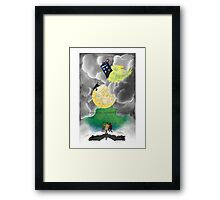 Gallifreyan moon Framed Print