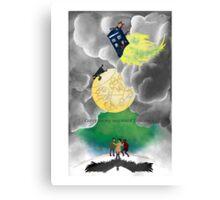Gallifreyan moon Canvas Print