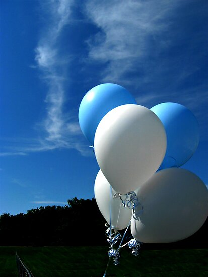 Beautiful Balloons Against a Blue Sky by Jane Neill-Hancock
