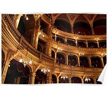 Budapest - The Walls - Hungarian State Opera House  Poster