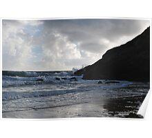 Moody beach scene Poster
