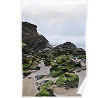 Poldu Cove in Cornwall Poster