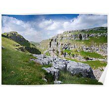 Gordale Scar, Malham, Yorkshire Dales National Park Poster