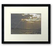 Snow storm on the way Framed Print
