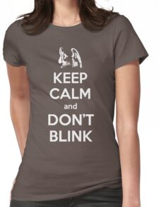 Weeping Angels Keep Calm Womens Fitted T-Shirt