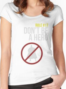 Zombie Survival Guide - Rule #17: Don't Be A Hero Women's Fitted Scoop T-Shirt