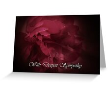 Peony and Deepest Sympathy Text card Greeting Card