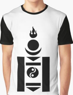 Soyombo Mongolian Symbol Graphic T-Shirt