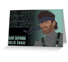 The Good, The Bad and The Boss - A Metal Gear Movie (Snake) Greeting Card