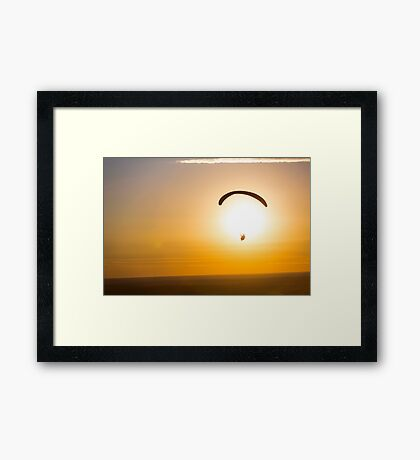 Paragliding into the Sunset Over the Palouse Framed Print