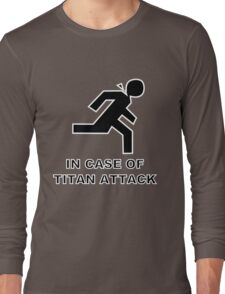 Shingeki no Kyojin - Emergency (Black fill) Long Sleeve T-Shirt