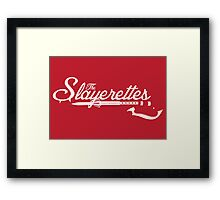 The Slayerettes - RED Framed Print