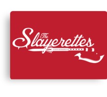 The Slayerettes - RED Canvas Print