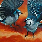 Blue Birds - birds painting by Khairzul MG