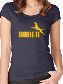 Boxer (yellow) Women's Fitted Scoop T-Shirt
