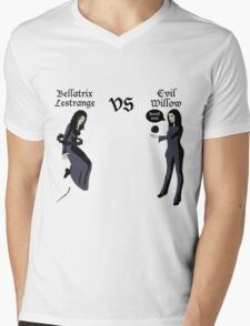 Evil Willow VS Bellatrix Lestrange Mens V-Neck T-Shirt