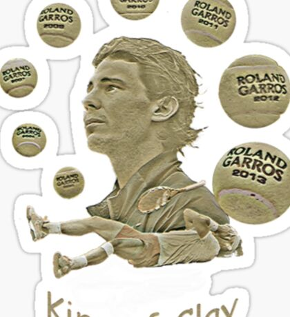 King of Clay Sticker