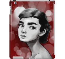A.Herpburn Red iPad Case/Skin