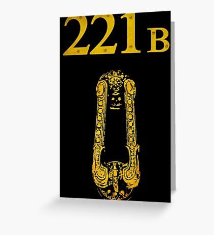 Sherlock - 221B Greeting Card