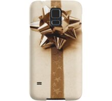 Gift Wrapped Vintage Bow and Ribbon on Plain Paper Samsung Galaxy Case/Skin