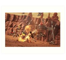 Battle of Geonosis Art Print