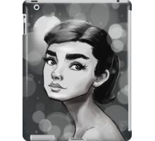 A.Herpburn Black iPad Case/Skin