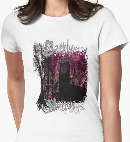 Pink Darkly Manor Womens Fitted T-Shirt