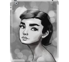 A.Herpburn White iPad Case/Skin