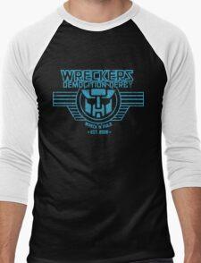 Wreck 'n' Rule - Blue Men's Baseball ¾ T-Shirt