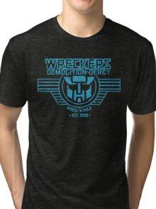 Wreck 'n' Rule - Blue Tri-blend T-Shirt