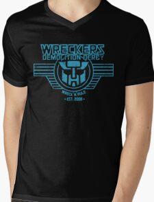 Wreck 'n' Rule - Blue Mens V-Neck T-Shirt