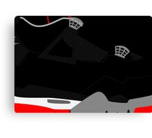 Made in China IV Black/Cement Size US 9.5 - Pop Art, Sneaker Art, Minimal Canvas Print