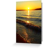 On the Autumn Shores of Alki Beach, Seattle WA Greeting Card