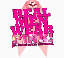 Real Men Wear Pink Wonky Lettering Unisex T-Shirt