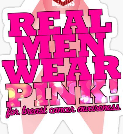 Real Men Wear Pink Wonky Lettering Sticker