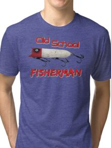 Old School Fisherman T-shirt Tri-blend T-Shirt