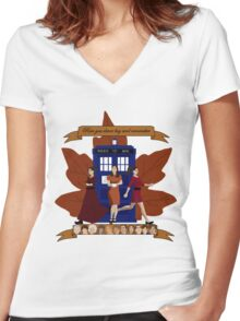 Clara and The Doctors Women's Fitted V-Neck T-Shirt