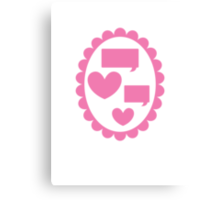 Love heart speaking on a cameo Canvas Print