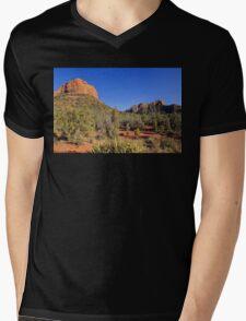 Butte above Submarine Rock Mens V-Neck T-Shirt