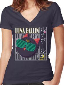 Luna Ballin Women's Fitted V-Neck T-Shirt