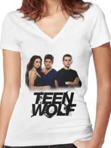 Teen Wolf Inspired - Original Cast Season 1-3 Women's Fitted V-Neck T-Shirt