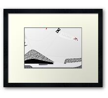 Made in China III White/Cement Size US 9.5 - Pop Art, Sneaker Art, Minimal Framed Print