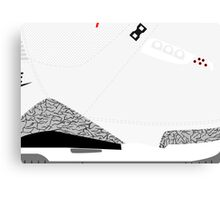 Made in China III White/Cement Size US 9.5 - Pop Art, Sneaker Art, Minimal Canvas Print