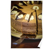 chocolate torte with spoon Poster