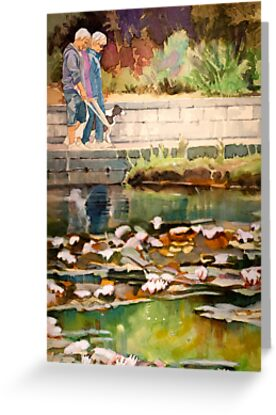 Walking in a botanical garden (card) by JudyUNelson