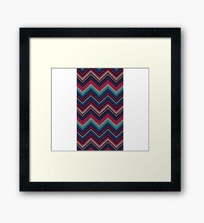 Sweater Pattern Framed Print