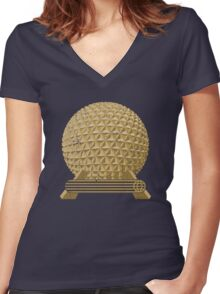 EPCOT Icon: SE Women's Fitted V-Neck T-Shirt