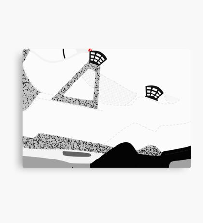Made in China IV White/Cement Size US 9.5 - Pop Art, Sneaker Art, Minimal Canvas Print